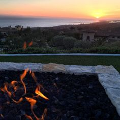 Fire pit  sunset = #LifeIsGood  外暖炉足す夕日は幸せ #sunset #sunsetsniper #sunset_pics #sunsets by nealschaffer