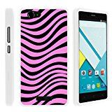 BLU Studio Energy Phone Case, Perfect Fit Cell Phone Case Hard Cover with Cute Design Patterns for BLU Studio Energy D810L (AT&T, T Mobile, MetroPCS) from MINITURTLE | Includes Clear Screen Protector and Stylus Pen - Pink Zebra