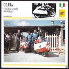 1957-Gilera-350cc-Four-Cylinder-Bob-McIntyre-Bob-Brown-Motorcycle-Photo-Card