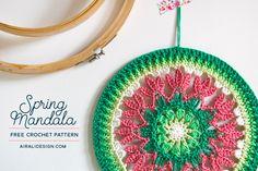 Free pattern for Spring Mandala