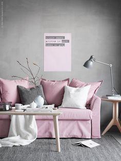 LISABO | IKEA Livet Hemma – inspirerande inredning för hemmet Sofa Cama Ikea, Ikea Couch, Gray Interior, Interior Exterior, Living Room Grey, Small Living Rooms, Magical Bedroom, Grey Lounge, Gris Rose