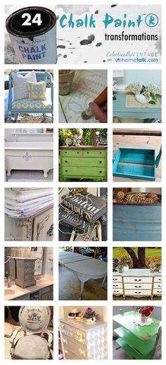 Chalk Paint 101 - the No Prep Wonder Paint! - and lots of beautiful transformations eclecticallyvintage.com