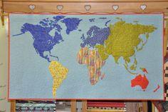 World map quilt