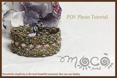 Photo Tutorial ENG-ITA ,DIY Bracelets,Jasmine bracelet,PDf Pattern 15