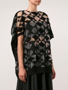 Junya Watanabe Comme Des Garçons - Sheer Graphic Knit Top
