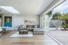 Our Property Renovation Journey: Part 4 – Laura Butler-Madden Large Open Plan Kitchens, L Shaped Sofa, Contemporary Sofa, Moving House, Open Plan Living, Corner Sofa, House Prices, Interior Inspiration, Interior Ideas