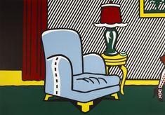 Available for sale from Ronald Feldman Gallery, Roy Lichtenstein, La Sortie Woodcut on museum board, 52 × 75 in Roy Lichtenstein Pop Art, Yves Klein, Arte Pop, Mondrian, Pablo Picasso, Pop Americano, Modern Art, Contemporary Art, Industrial Paintings