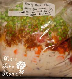 More Like Home: 5 Crockpot Freezer Meals
