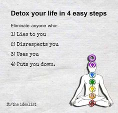 Detox your life in 4 easy steps: