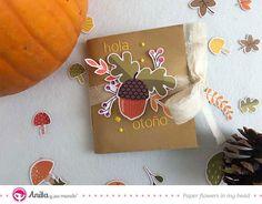 Tutorial de scrapbooking para hacer un mini álbum de otoño utilizando una bolsa de papel y la colección En el bosque de Anita y su mundo. 😃  #Tutorial #DIY #Anitaysumundo #Álbum