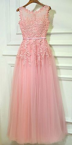 Charming Tulle Jewel Neckline A-line Bridesmaid Dress With Beaded Lace Appliques & Belt
