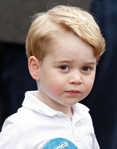 Prince George of Cambridge visits the Royal International Air Tattoo at RAF Fairford on July 8, 2016 in Fairford, England.