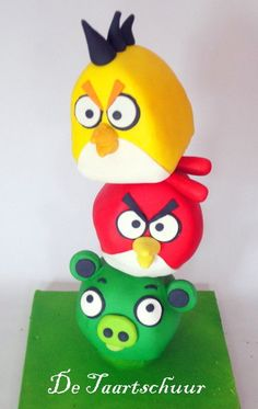 Angry Birds cake  Cake by taartschuur