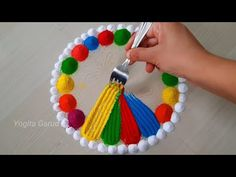 Easy rangoli design || satisfying,relaxing rangoli art - YouTube Big Rangoli Designs, Free Hand Rangoli Design, Beautiful Rangoli Designs, Festival Rangoli, Indian Rangoli, Simple Rangoli, Crochet Necklace, Relax, Youtube