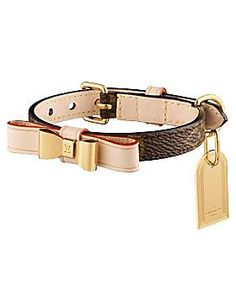 when only the best will do... Louis Vuitton Baxter XS Dog Collar:)
