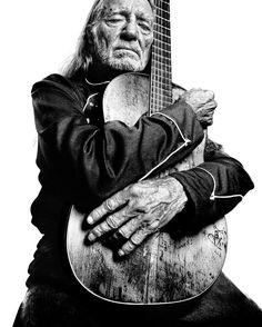 Willie Nelson. artist portrait guitar
