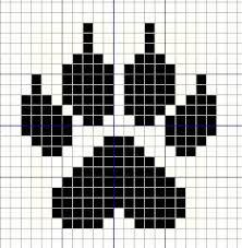 Most current Absolutely Free Cross Stitch small Popular Buzy Bobbins: Small wolf paw – little cross stitch design motif Tiny Cross Stitch, Cross Stitch Alphabet, Cross Stitch Designs, Cross Stitch Patterns, Tapestry Crochet Patterns, Bead Loom Patterns, Beading Patterns, Dmc Embroidery Floss, Cross Stitch Embroidery