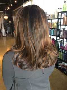 A little balayage to add some extra fun to this client!