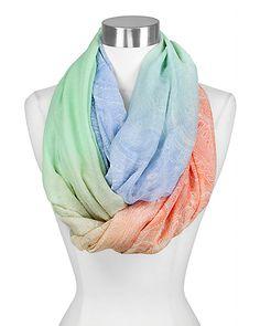 spring pastel paisley infinity scarf