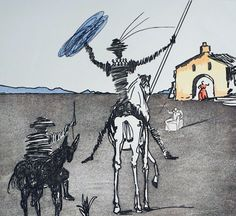 Historia De Don Quichotte De La Mancha Impossible Dream 1980 by Salvador Dali…