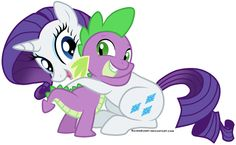 Commission by A cute drawing of Rarity and Spyke! ^_^ Rarity & Spike ©My Little Pony Art be me Commission: xiestman Happy Cartoon, Girl Cartoon, Rarity And Spike, Human Mlp, Mlp Rarity, Cute Hug, Innocent Love, My Little Pony Rarity, Mlp Pony