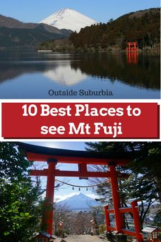 Best places to see Mt Fuji - Japan's tallest mountain and its most iconic landmark including an epic view of Mt Fuji with its snow cap from an airplane, a bullet train and from our hotel in Tokyo. Japan Travel Guide, Asia Travel, Travel Guides, Dc Travel, Japan Beach, Japanese Travel, Tokyo Hotels, Visit Japan, Travel Around