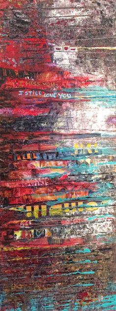 I still love you - Glenn Pennock / oil, acryl, ink - private collection