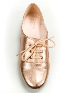 metallic oxfords from zara