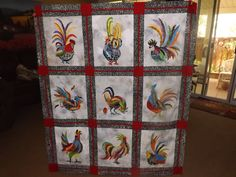 Radical Rooster Applique Quilt Pattern | chickens and more ... : rooster quilt patterns - Adamdwight.com