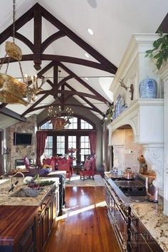Love this country style kitchen