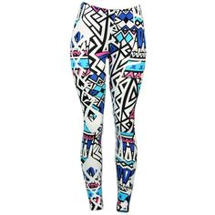 Blue Pearl Sexy & Comfortable Aztec Pattern Native American Angle... (17 AUD) ❤ liked on Polyvore featuring pants, leggings, bottoms, jeans, blue print leggings, print pants, sexy pants, aztec leggings and stretchy leggings