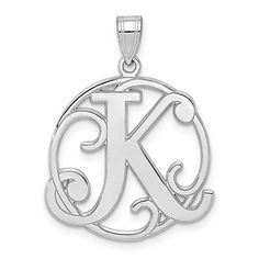8mm x 11mm Solid 925 Sterling Silver CZ Cubic Zirconia Letter Z with Lobster Clasp Pendant Charm