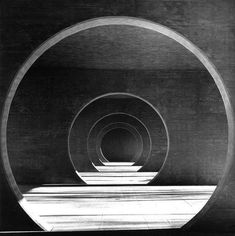 architecture like a tunnel passage by Mario Botta, Wohnsiedlung in Novazzano. Swiss Architecture, Space Architecture, Amazing Architecture, Barcelona Architecture, Layered Architecture, Building Architecture, Brutalist, Light And Shadow, Belle Photo