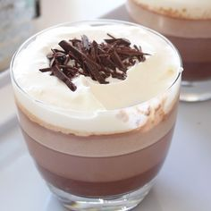 This pudding tastes like smooth and creamy hot chocolate and creates beautiful, fuss-free ombre effect when served in glass bowls!