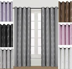 """""""RIPPLE"""" DIMOUT SEMI BLACKOUT EYELET THERMAL SUMMER  CURTAINS"""