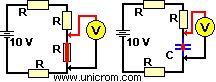 Localización de corto circuitos, fallas en circuitos pasivos. Método para localizar cortos circuito y averías en circuitos con capacitores e inductores.