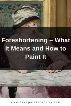 Foreshortening in art refers to the way we perceive an object as it recedes in space. This post goes into much detail of what it means and how it can be painted. #drawpaintacademy Oil Painting Lessons, Oil Painting Techniques, Painting Tips, Art Techniques, Painting & Drawing, Beginner Painting, Art Rules, Composition Art, Art Basics