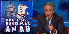 """Jon Stewart revamps the Schoolhouse Rock song to reflect how ineffective and inefficient Congress really is these days when it comes to passing laws in a hilarious new """"Daily Show"""" segment called """"How a Bill Becomes an Ad. Government Lessons, Trick Questions, Jon Stewart, The Daily Show, Rock Songs, People Laughing, Rock N, Social Issues, Oppression"""