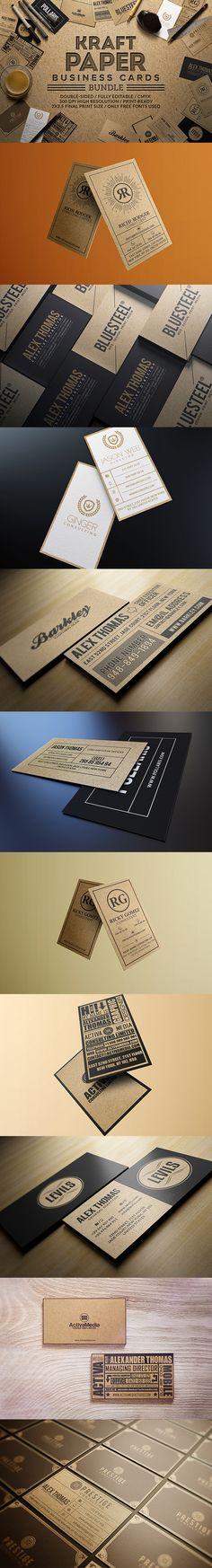Kraft Paper Business Card Bundle DOWNLOAD HERE: https://creativemarket.com/Marvels/825803-Kraft-Paper-Business-Cards-Bundle?u=Marvels