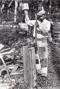 Vieux métiers forestiers : Le merrandier