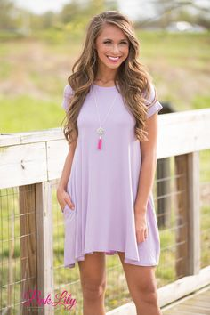 Let's Just Relax Lavender Dress - The Pink Lily Boutique