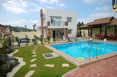 small houses with pool | pool resort house plans designs san pedro binan calamba Swimming pool ...