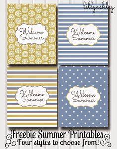 Free Summer Printables...4 styles!