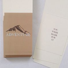 """Adventure card by Haven Paperie stationery subscription service. """"You were made for it"""""""