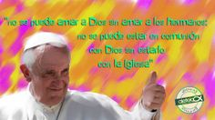 """La frase de hoy de #PapaFrancisco: """"No se puede amar a Dios sin amar a los hermanos"""""""