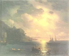 The Bay Golden Horn in Istanbul - Ivan Aivazovsky - Completion Date: 1872