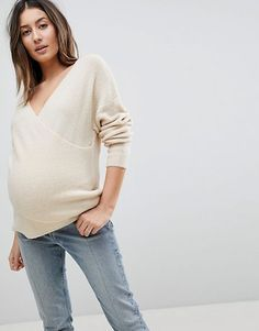 Shop ASOS DESIGN Maternity nursing jumper in wrap fluffy yarn. With a variety of delivery, payment and return options available, shopping with ASOS is easy and secure. Shop with ASOS today. Asos Maternity, Maternity Studio, Maternity Sweater, Maternity Nursing, Maternity Tops, Maternity Fashion, Maternity Dresses, Maternity Style, Pregnancy Outfits