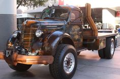 Another set of ideas for my 47 Ford build. The Welderup International KB Ditch Digger Truck Was A Big Brown Hit At SEMA 2015 Old Pickup Trucks, Hot Rod Trucks, Big Rig Trucks, Semi Trucks, Cool Trucks, Chevy Trucks, Truck Drivers, Dually Trucks, Chevy Pickups