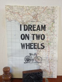 Letterpress print on map by Karen Edwards