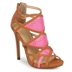 9f846c08ed Journee Collection Jesse Women's Strappy High Heels Open Toe High Heels,  Strappy High Heels,